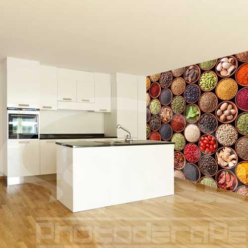 پوستر دیواری,پوستر دیواری 3 بعدی,کاغذ دیواری,پوستر دیواری سه بعدی,کاغذ دیواری سه بعدی,کاغذ دیواری 3 بعدی آشپزخانه طرح ادویه